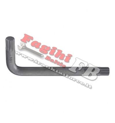 Veržliaraktis L-formos, Spline, M8, sustiprintas, L-83mm