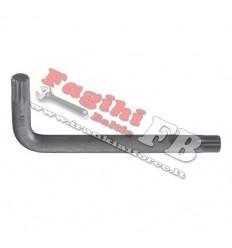 Veržliaraktis L-formos, Spline, M12, sustiprintas, L-107mm