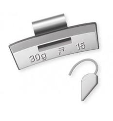 Svareliai balansavimui (100vnt kompl.), 25g, lietiems ratams, aliuminis-ALU