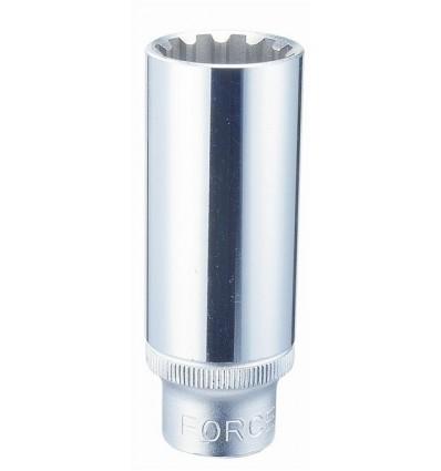 Socket, ilga, 1/2`, Spline, 12, L-77mm
