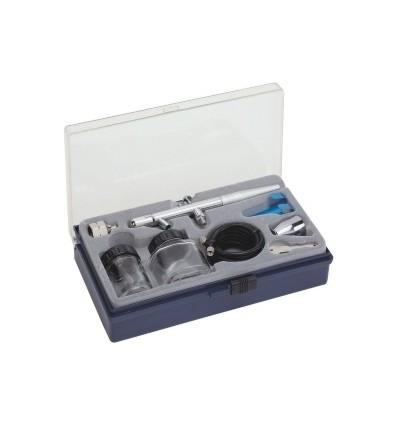 Aerografas, plastikinis, 12l/min, 22ml, 50ml, 0.3mm, bakelis apačioje