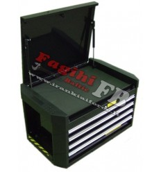 Įrankių dėžė, 1 skyriaus, metalinė, 4 stalčių, 724mm, 470mm, 420mm