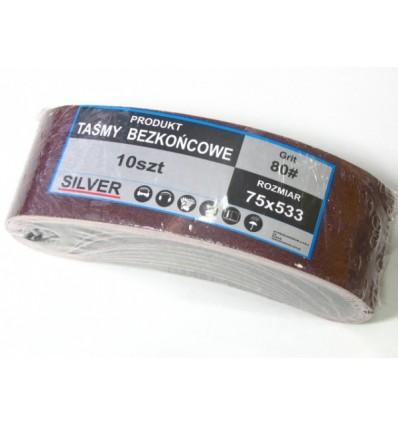 Šlifavimo popieriaus juosta (10vnt.), Nr.80, L-533mm
