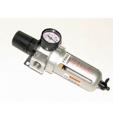 Oro filtras, reguliuojamas, su manometru, 5µ, 3000l/min, 14.5bar, 10.5bar, 1/2`(F)