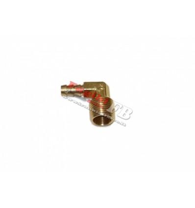 Jungtis, žarnai, 90°, 9mm, 1/2`(M)