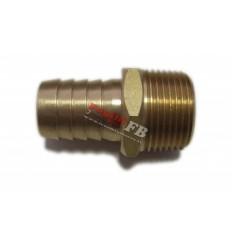 Jungtis, žarnai, 1/2`(M), 16mm, žalvaris