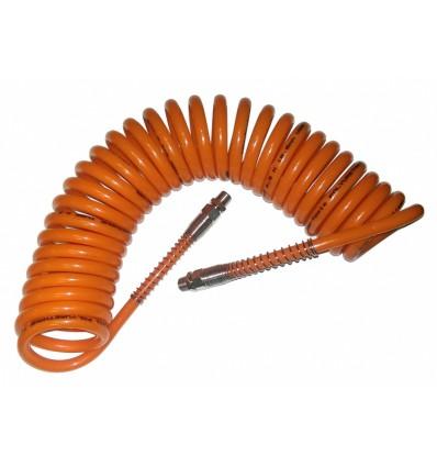 Suspausto oro žarna, L-6m, spiralinė, 10mm, 6.5mm, poliuretaninė, 1/4`(M)