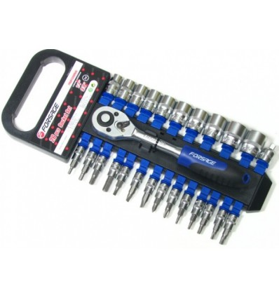Įrankių rinkinys, 26d., 1/4`, 3/8`, 6br., (10-19mm)(H3-H6)(T10-T30)(PH.1-PH.2)(SL4-SL7)