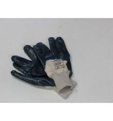 Pirštinės, siauru rankogaliu, 10 dydis, medvilninio audinio, dengtas nitrilu