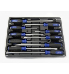 Screwdrivers Set, sustiprintų, 10d., Phillips Slotted