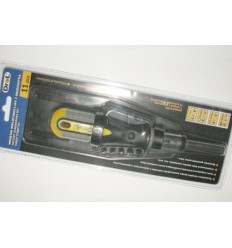 Screwdriver With Bits, 11d., 1/4`