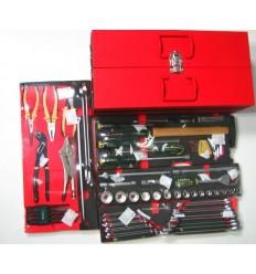 Įrankių dėžė, įrankių rinkinys 80d., 3 skyrių, su įrankiais