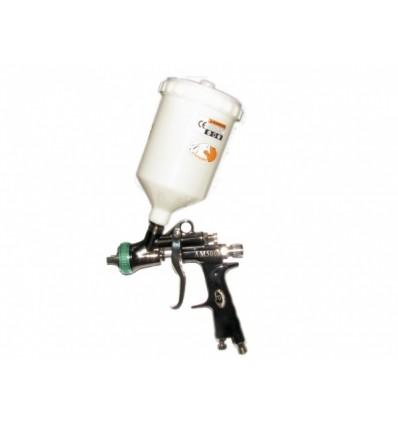 Dažymo pistoletas, plastikinis, HVLP, 283l/min, 600ml, bakelis viršuje, 1.3mm, 2.0bar.