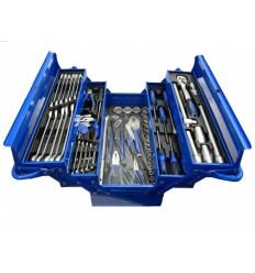 Įrankių dėžė, įrankių rinkinys 86d., 5 skyrių, su įrankiais