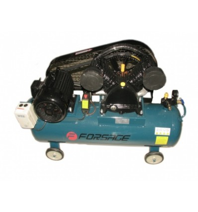 Oro kompresorius, stūmoklinis, 2 cilindrų, 200l, 380V, 4kW, 648l/min, 850rpm, 10bar