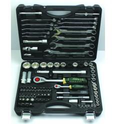 Įrankių rinkinys, 88d., 1/4`, 1/2`, 6br., (4-32mm)