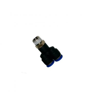 Jungtis, PVC vamzdeliui, Y-formos, 1/4`(M), 8mm