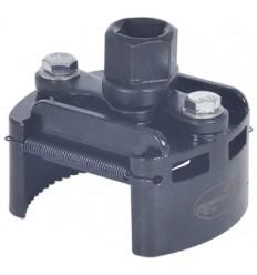 Tepalo filtro raktas, 60-80mm, suspaudžiamas, 2-lankų, 3/8`