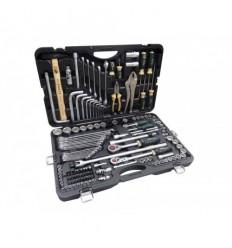 Tools Set, 142d., 1/4`, 3/8`, 1/2`, 6br. 12br., Star, (4-36mm)