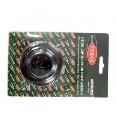 Tepalo filtro raktas, presuotas plienas, 3/8`, 74mm, 14br.