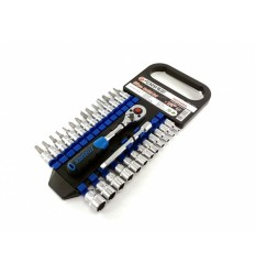 Įrankių rinkinys, 28d., 1/4`, 12br., (4-14mm)(H3-H6)(T10-T30)(PH.1-PH.2)(SL4-SL7)