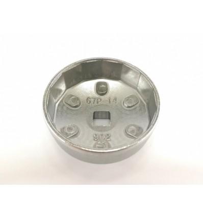 Galvutė tepalo filtrui (902), aliuminė, 1/2`, 67mm, 14br.