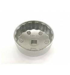 Galvutė tepalo filtrui (905), aliuminė, 1/2`, 73mm, 15 dant.