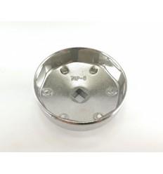 Galvutė tepalo filtrui (203-2), aliuminė, 1/2`, 74mm, 8br.