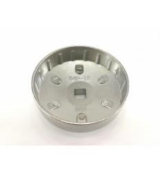 Galvutė tepalo filtrui (906), aliuminė, 1/2`, 84mm, 18 dant.