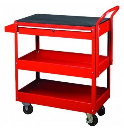 Įrankių vežimėlis, 2 lentynos, 1 stalčius