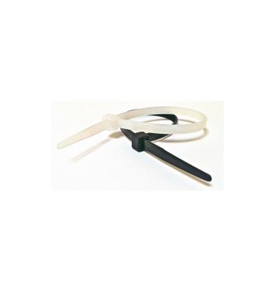 Tvirtinimo dirželis, balti, L-432mm, plastikinis