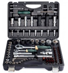 Tools Set, 94+6d., 1/4`, 1/2`, 6br., (4-32mm)