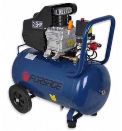 Oro kompresorius, stūmoklinis, 1 cilindro, 50l, 220V, 1.8kW, 206l/min, 2850rpm, 8bar