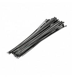 Tvirtinimo dirželių rinkinys 100vnt (juodų), 2.5mm, L-200mm, plastikinis