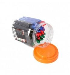 Mini markerių rinkinys 50d., juodas, mėlynas, raudonas, žalias