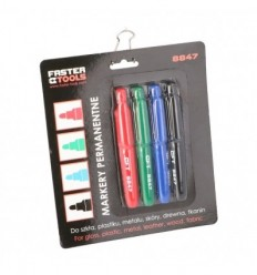 Mini markerių rinkinys 4d., juodas, mėlynas, raudonas, žalias