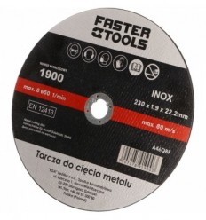 Diskas, pjovimui, 1.9mm, Ø230mm, 22.2mm, 6650rpm