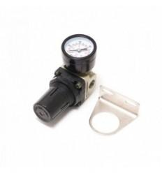 Oro reguliatorius, reguliuojamas, su manometru, 0-10bar, 1/4`(F), 1/4`(F), metalinis