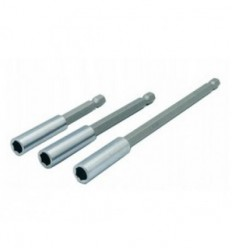 Adapteriu su magnetu rinkinys 3d., su magnetu, 1/4` (M) išorė, 1/4` (F) vidus, L-75mm L-100mm L-150mm