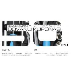Dovanų kuponas 50 EU vertės