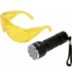 UV žibintuvėlis ir akiniai kondicionavimo sistemai