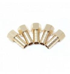 Junčių rinkinys, žarnai, 8mm, 1/4`(F), žalvaris, 5d.