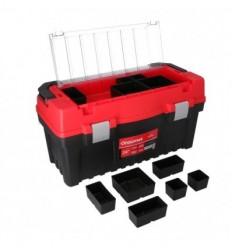 Įrankių dėžė, plastikinė, 2 skyriai + organaizeris, 594mm, 308mm, 288mm
