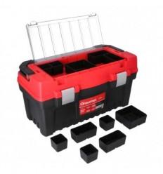 Įrankių dėžė, plastikinė, 2 skyriai + organaizeris, 548mm, 286mm, 274mm