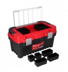 Įrankių dėžė, plastikinė, 2 skyriai + organaizeris, 476mm, 256mm, 260mm