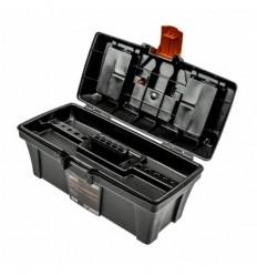Įrankių dėžė, plastikinė, 2 skyriai + organaizeris, 398mm, 200mm, 186mm