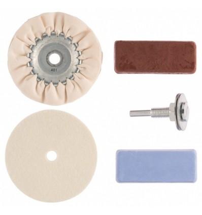 Poliravimo diskų, pastų ir adapterio rinkinys, 6mm